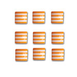 Queen and Company - Candy Shoppe Collection - Self Adhesive Candy Stripers - Square - Orange Crush