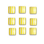 Queen and Company - Candy Shoppe Collection - Self Adhesive Candy Stripers - Square - Lemon Drop