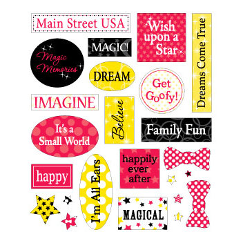 Queen and Company - Magic Millennium Collection - Disney - Cardstock Stickers - Magic
