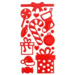 Queen and Company - Epoxy Icons - Christmas Red