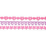 Queen and Company - Self Adhesive Felt Fusion Border - Mini - Girly