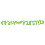 Queen and Company - Self Adhesive Felt Fusion Border - Happy Haunting - Lime