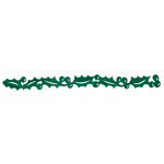 Queen and Company - Self Adhesive Felt Fusion Border - Christmas - Holly - Green