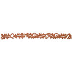 Queen and Company - Self Adhesive Felt Fusion Border - Leaves - Brown