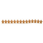 Queen and Company - Self Adhesive Felt Fusion Border - Christmas - Gingerbread Man - Brown