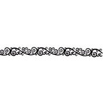 Queen and Company - Formal Collection - Self Adhesive Felt Fusion Border - Classic Scroll - Black
