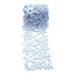 Queen and Company - Self Adhesive Felt Fusion Ribbon - 2.7 Inches - Winter - Snow - White