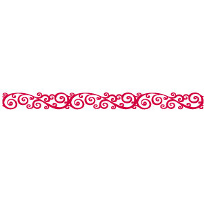 Queen and Company - Self Adhesive Felt Fusion Border - Classic Scroll - Red