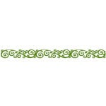 Queen and Company - Self Adhesive Felt Fusion Border - Classic Scroll - Moss