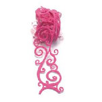 Queen and Company - Self Adhesive Felt Fusion Ribbon - 1.6 Inches - Scrolls - Pink
