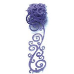 Queen and Company - Self Adhesive Felt Fusion Ribbon - 1.6 Inches - Scrolls - Purple