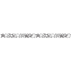Queen and Company - Self Adhesive Felt Fusion Border - Stars - White