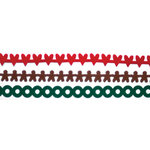 Queen and Company - Christmas Collection - Self Adhesive Felt Fusion Border - Mini - Christmas I
