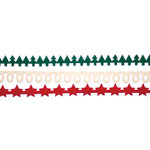 Queen and Company - Christmas Collection - Self Adhesive Felt Fusion Border - Mini - Christmas II