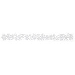 Queen and Company - Self Adhesive Felt Fusion Border - Snow Flurry - White
