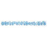 Queen and Company - Self Adhesive Felt Fusion Border - Snow Flurry - Light Blue