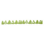 Queen and Company - Self Adhesive Felt Fusion Border - Holiday Tree - Moss