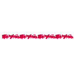Queen and Company - Self Adhesive Felt Fusion Border - Vehicles - Red, CLEARANCE