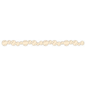 Queen and Company - Self Adhesive Felt Fusion Border - Baseball - Cream