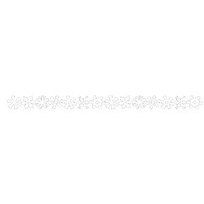 Queen and Company - Self Adhesive Felt Fusion Border - Snowflakes - White