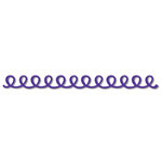 Queen and Company - Self Adhesive Felt Fusion Border - Doodle Loop - Purple