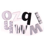 Queen and Company - Fontastics - Colorful Chipboard Letters - Soul Mate, CLEARANCE