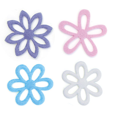 Queen and Company - Flower Frenzy - Large Felt Flowers - Pastel