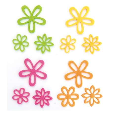 Queen and Company - Flower Frenzy - Small Felt Flowers - Primary Small