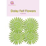 Queen and Company - Felt Flowers - Daisies - Lime