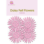 Queen and Company - Felt Flowers - Daisies - Pink, CLEARANCE