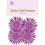 Queen and Company - Felt Flowers - Daisies - Purple, CLEARANCE