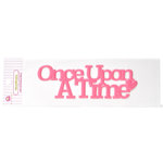 Queen and Company - Magic Collection - Headliners - Self Adhesive Epoxy Title - Once Upon A Time