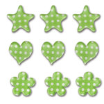 Queen and Company - Candy Shoppe Collection - Ice Accents - Polka - Kiwi Kiss