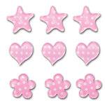 Queen and Company - Candy Shoppe Collection - Ice Accents - Polka - Cotton Candy