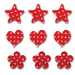Queen and Company - Candy Shoppe Collection - Ice Accents - Polka - Cherry Bomb