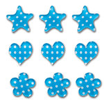 Queen and Company - Candy Shoppe Collection - Ice Accents - Polka - Blueberry Bliss