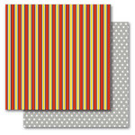 Queen and Company - Magic Collection - 12 x 12 Double Sided Paper - Magic Stripe