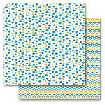 Queen and Company - Summer Collection - 12 x 12 Double Sided Paper - Summer Fishies