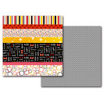 Queen and Company - Magic Collection - 12 x 12 Double Sided Paper - Magic Multi-Stripe