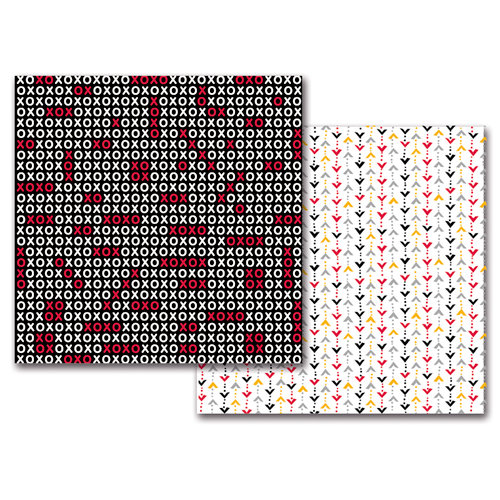 Queen and Company - Magic Collection - 12 x 12 Double Sided Paper - Magic XO