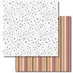 Queen and Company - Magic Millennium Collection - 12 x 12 Double Sided Paper - Stripes