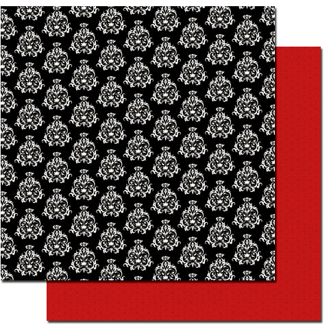 Queen and Company - Magic Collection - 12 x 12 Double Sided Paper - Damask