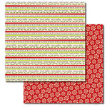 Queen and Company - Christmas Collection - 12 x 12 Double Sided Paper - Words
