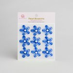 Queen and Company - Self Adhesive Pearl Blossoms - Blue