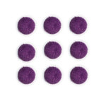 Queen and Company - Candy Shoppe Collection - Pom Poms - Grape Ape