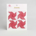 Queen and Company - Self Adhesive Paper Pinwheels - Cherry Bomb