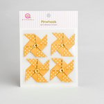 Queen and Company - Self Adhesive Paper Pinwheels - Lemon Drop