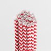 Queen and Company - Perfect Party Collection - Drinking Straws - Chevron - Cherry Bomb