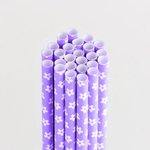 Queen and Company - Perfect Party Collection - Drinking Straws - Floral - Grape Ape