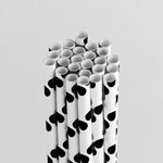Queen and Company - Perfect Party Collection - Drinking Straws - Polka - Licorice